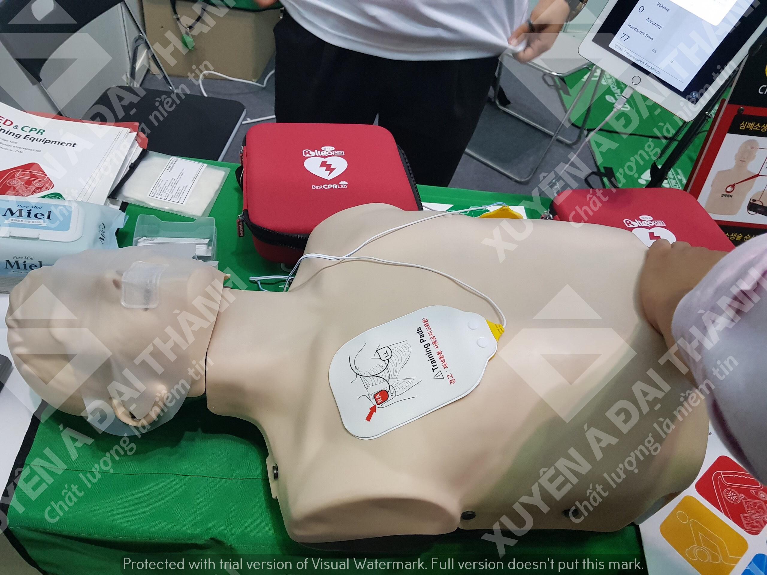Hình nhân thực tập hô hấp Hàn Quốc