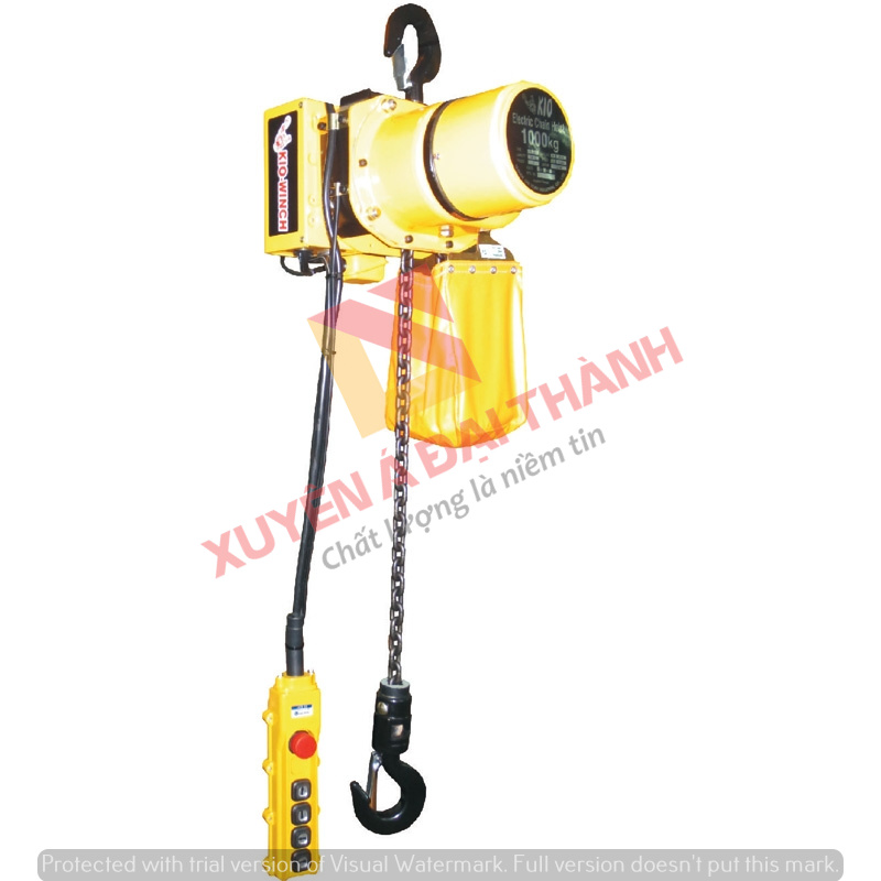 Palang Xích Điện Cố Định 1 tấn Kio Winch Model CW-1000
