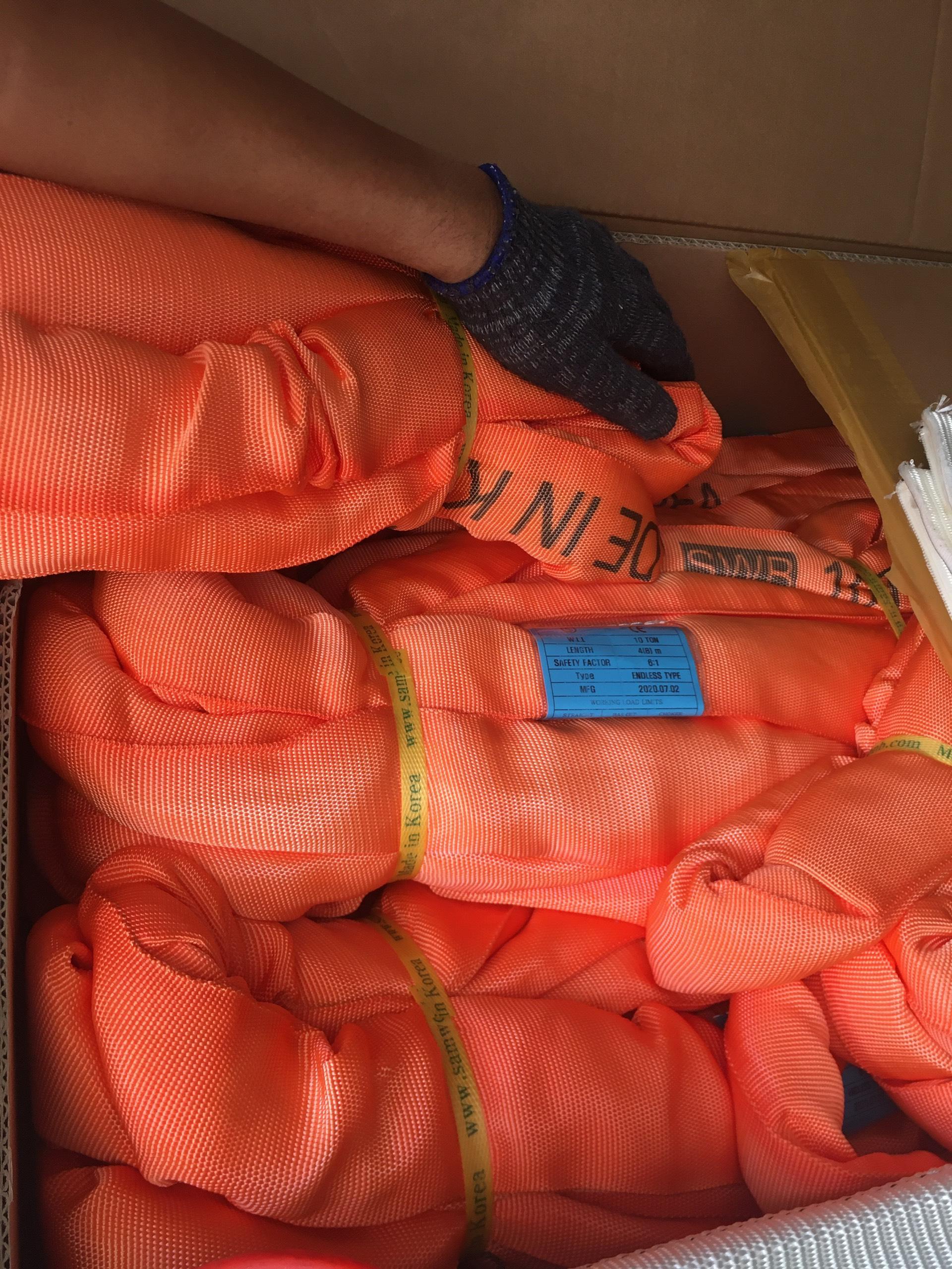 Cáp Cẩu Hàng Bản Tròn 90 tấn - SAMWOO - Hàn Quốc