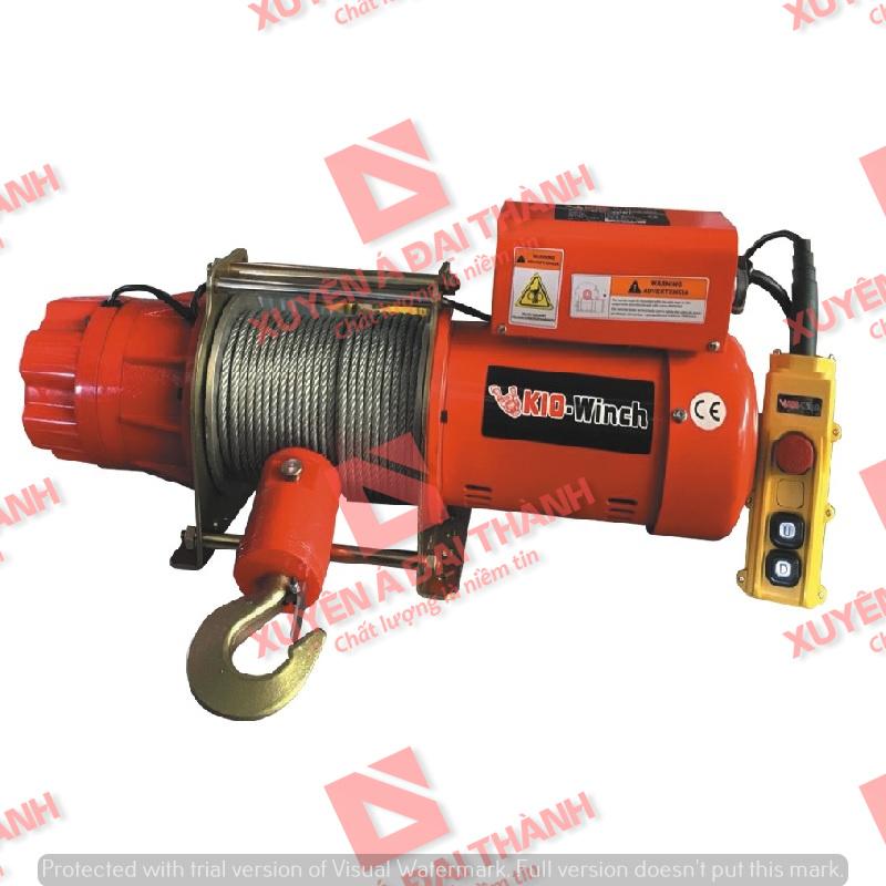 Tời điện 500kg REMOTE 24V 1 pha Đài Loan KIO Winch GRV-500L