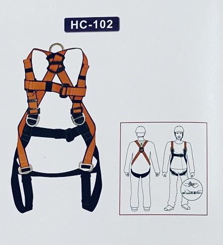 Dây Đai An Toàn Toàn Thân HC-102 Có Cuộn Dây Chống Rơi Haru