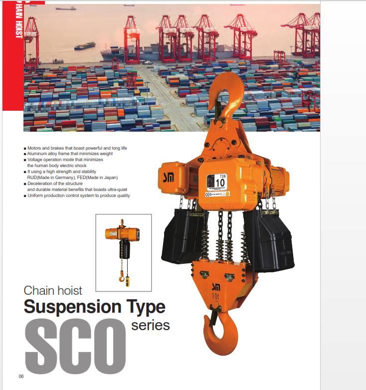 Palang xích Điện samsung 250kg SCO-S(D)250/4,6Point