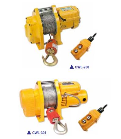 Tời Cáp Điện Mini COMEUP Đài Loan Loại 200-300KG CWL-200, CWL-301