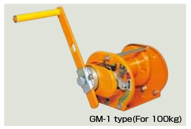 Tời tay Kondotec Nhật Bản loại GM-1/GM-3/GM-5/GM-10/GM-20/GM-30
