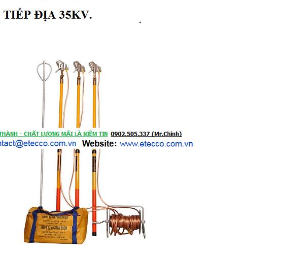 Bộ Tiếp địa 35KV dùng Điện Lực