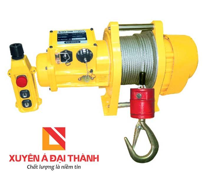 Máy tời điện mini 300kg Đài Loan KIO-WINCH CK-200