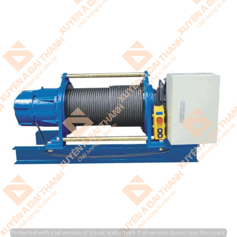 Máy tời điện 1 tấn KIO Winch Đài Loan dòng điện 1 pha GG-1050