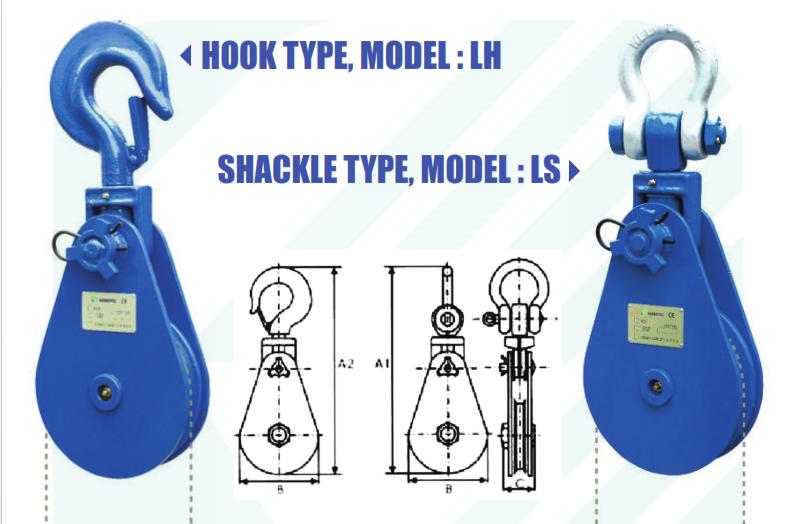 Ròng Rọc - Puly Kondotec Nhật Bản Model LH và LS