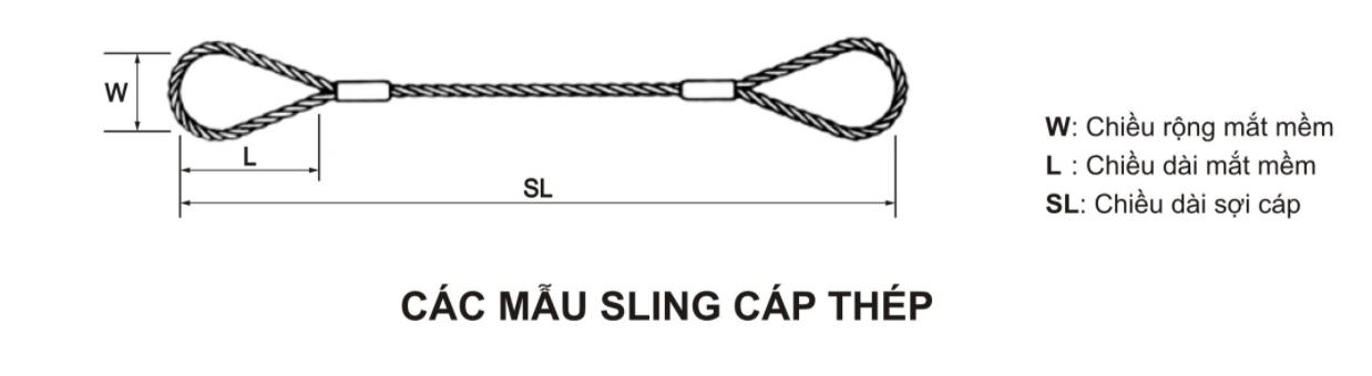 cấu tạo sling cáp thép